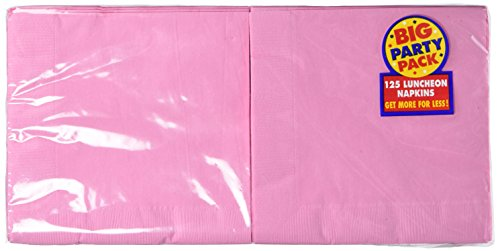 Amscan Big Party Pack 125 Count Luncheon Napkins, New Pink - 1