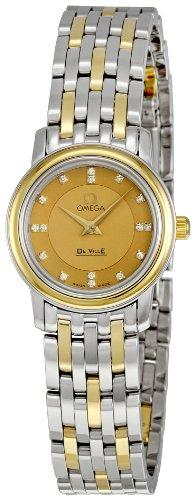 Omega Women's 4370.16 DeVille Prestige Champagne Dial Watch