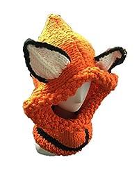 Unisex Winter Lovely Fox Animal Knitted Hat Orange CA131C