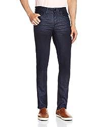 Cherokee Men's Slim Fit Jeans (8907242995113_267695041_32W x 30L_Dk-Blue)