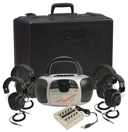 Califone Complete 4 Person Multimedia/Cd Player Listening/Learning Center For Classroom Teachers & Sdudents - 1776Plc