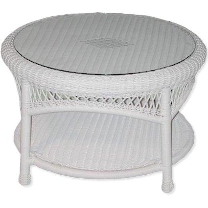 Classic Coastal Avalon Round Wicker Coffee Table