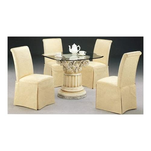 Amazoncom Set of 2 Elegant Rolled Back Parson Dining  : 41HR5M1J06LSS500 from www.amazon.com size 500 x 500 jpeg 28kB
