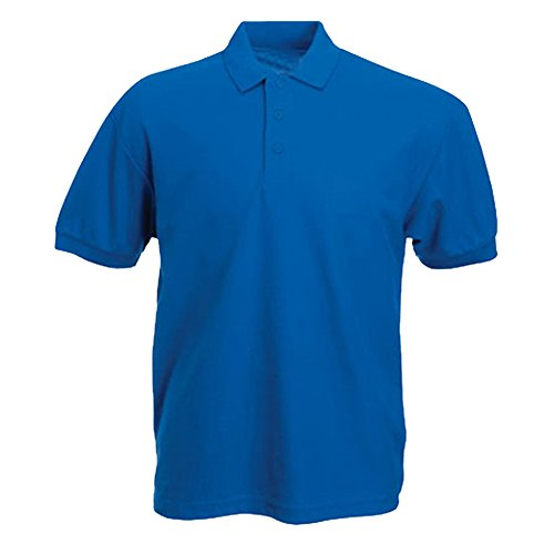 Mens 100% Cotton Rich Polo T Shirts in 6 Colours Sizes XS to 4XL - SPORTS WORK LEISURE