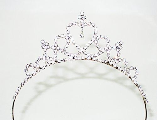 Macks.i ダイヤが揺れる ハート の ティアラ カチューシャ 髪飾り 子供 衣装 プリンセスタイプ 結婚式 舞台 ドレス