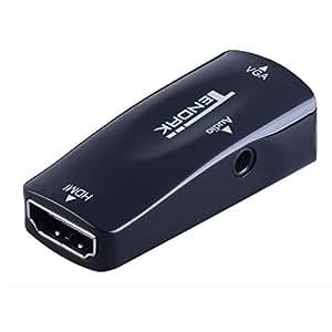 Tendak HDMI(メス) to VGA(メス)アダプタ音声出力 3.5mmオーディオジャック 1920x1080 (HDMIメス→VGAメスアダプタ)