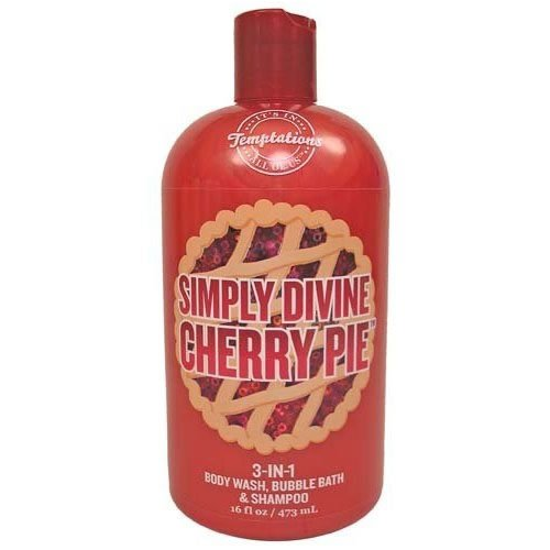 Bath & Body Works Temptations Simply Divine Cherry Pie 3 in 1 Body Wash, Bubble Bath, & Shampoo 16 oz (Shes My Cherry Pie compare prices)