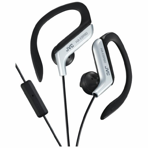 Jvc Haebr80S Sport-Clip In-Ear Headphones With Microphone & Remote (Silver)