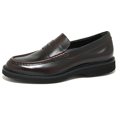 2019O mocassino HOGAN ROUTE bordeaux scarpe uomo loafer shoes men [7]