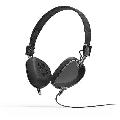 Skullcandy Navigator Headphones with Mic, (Black)
