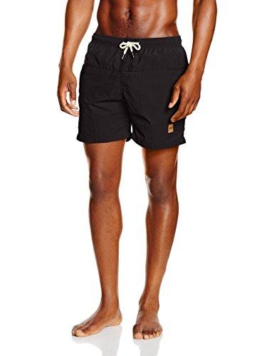 Urban Classics Block Swim Shorts, Costume da Bagno Uomo, Nero (Blk/Blk 17), XX-Large