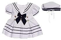 Caldore Girls sailor Dress White Size 12 ( M )