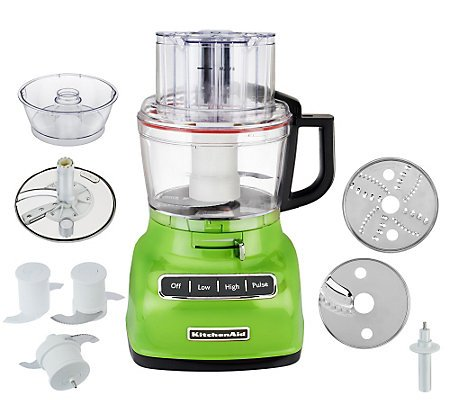 KitchenAid KFP0922CU 9-Cup Food Processor with Exact Slice System (Green Apple)