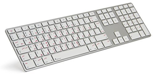 logickeyboard arabic english aluminum usb wired keyboard with numeric keypad for apple mac. Black Bedroom Furniture Sets. Home Design Ideas