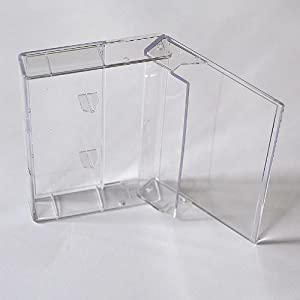 Musik-Cassettenhüllen/Leerhüllen, MC-Kassetten-Hüllen, transparent-hochklar, 100 Stück-Box