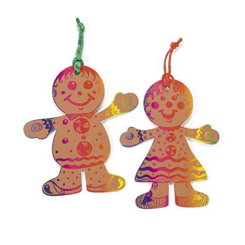 Magic Color Scratch Gingerbread Ornaments (2 dz)