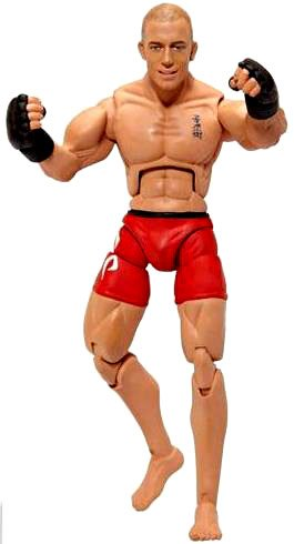 UFC Bring It On Build the Octagon Exclusive 3 3/4 Inch Action Figure Georges St. Pierre