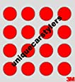 16 x 3M Tax Disc Holder Original Sticky Pads TRANSPARANT double sided sticky - Red Film Peel Back - HIGH PERFORMANCE 3M