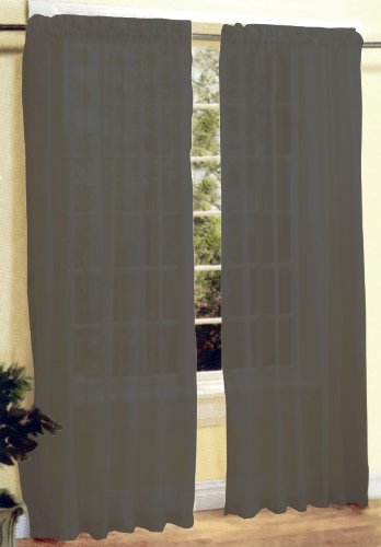 New 2 Pcs Sexy Sheer Voile Window Curtain Panel Set Grey Silver 120 x84 - ErnestoLPospisil