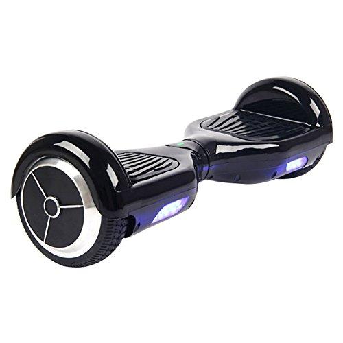 全3色 電動 立ち乗り 二輪車 セグウェイ 充電式 重心移動で運転 防水 自由に操作可能 立ち乗り型ロボット ハンズフリー (ブラック)