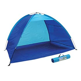 Blue Portable Beach Cabana Tent Pop up Sun Shelter