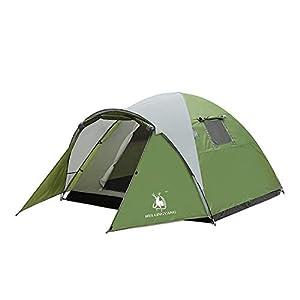 HUI LINGYANG 前室あり 3-4人用 開放テント ツーリングドームテント 1人でも設営しやすい