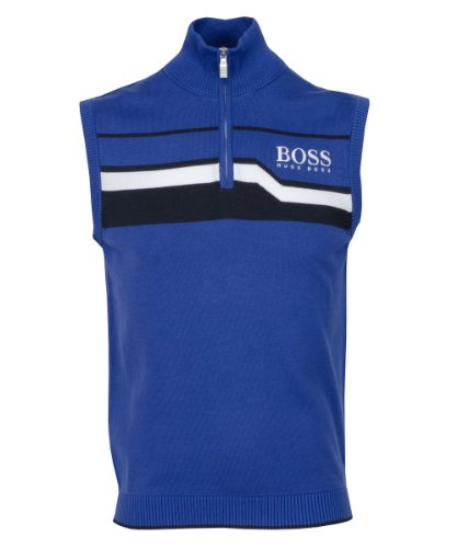 Hugo Boss 2013 Zagi Pro Zip Neck Slipover Medium Blue L