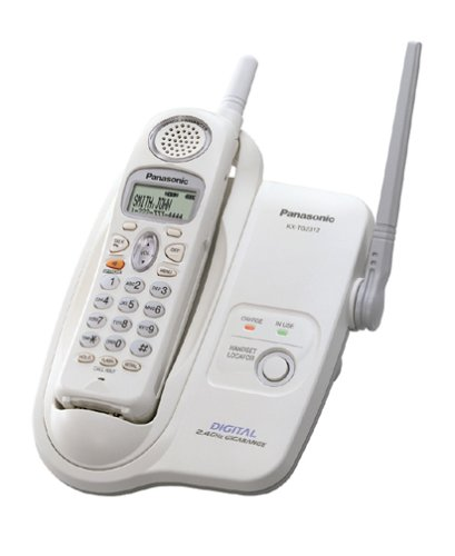 Panasonic KX-TG2312W 2.4 GHz DSS Cordless Phone with Caller ID (White) (Panasonic Phone Shoulder Rest compare prices)