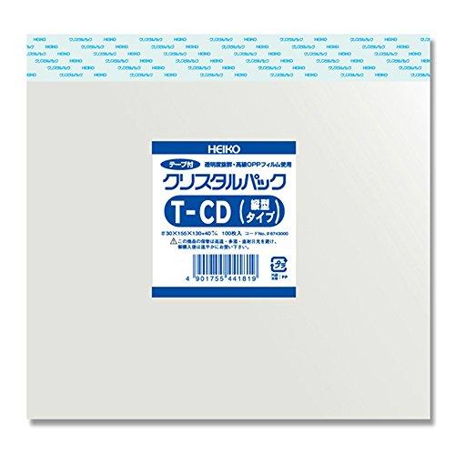 HEIKO ヘイコー OPPクリスタルパック テープ付タイプ T-CD縦 (100枚入) 006743000