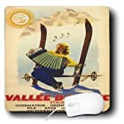 Seven Arc MousePads 163111_1 Florene Vintage Sports Poster - Image of Vintage Italian Ski Ad With Woman Playing the Accordion -.