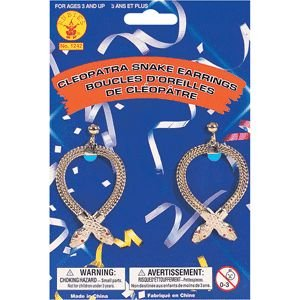 Rubie's Costume Co Cleopatra Snake Earrings Costume