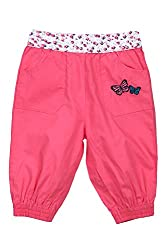 Chirpie Pie by Pantaloons Girl's Regular Fit Pants(205000005662008, Pink, 12-18 Months)