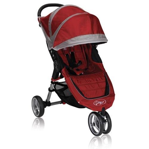 Baby Jogger 2010 City Mini Single Stroller, Crimson/Gray