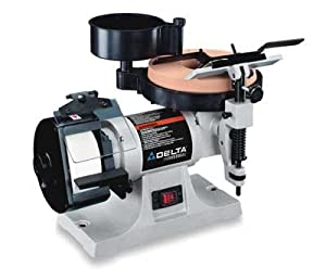 Delta 23 710 1 5 Horsepower Wet Dry Sharpening Center With 8 Inch Horizontal Wet Wheel And 5