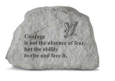 Kay Berry- Inc. 70820 Courage Is Not The Absence Of Fear - Eagle Garden Accent - 6.5 Inches x 4.5 Inches (Fear Inc compare prices)