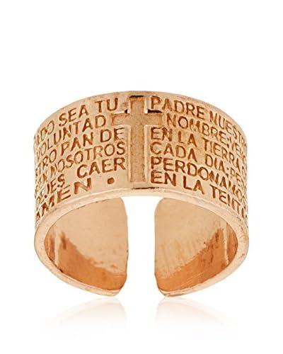 Cordoba Jewels Anello Padre Nuestro Oro Rosa [Metallo Dorato]