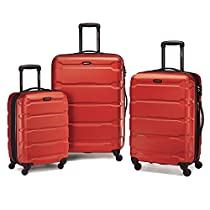 Samsonite Omni PC 3 Piece Set Spinner 20 24 28, Burnt Orange, One Size