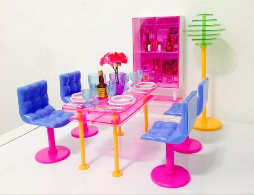 Barbie Größe Puppenhaus Wohnzimmern mit Schrank
