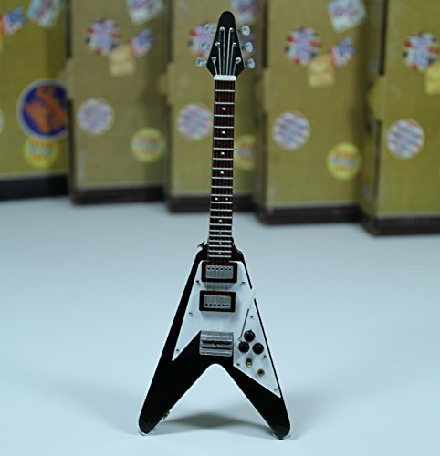 Flying V Marc Bolan Electric Gibson Guitar Miniature Music Figure Toy Gift New