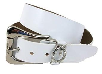 2f8c8ef0c023 Guess Ceinture femme cuir synthetique blanc Taille S  Amazon.fr guess  ceinture femme