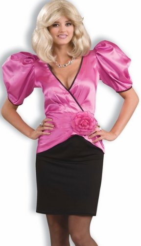 Puffy Sleeve 80s Dynasty Glam Dress Halloween