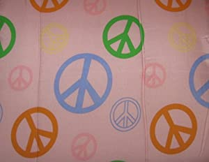 Divatex Full Comforter - Dusty Rose Pink with Peace Signs at Sears.com
