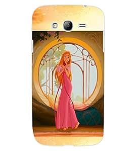 ColourCraft Tangled girl Design Back Case Cover for SAMSUNG GALAXY GRAND Z I9082Z