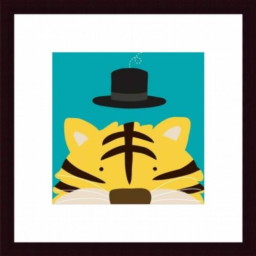 Barewalls Wall Decor by Yuko Lau, Peek-A-Boo Tiger - 1