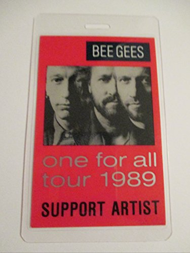 1989 Bee Gees Laminated Backstage Pass Support Artist One For All Tour
