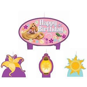1 X Disney Tangled Mini Molded Candles - 4/Pkg. - 1