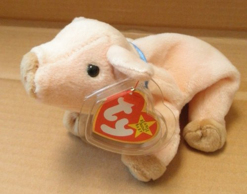TY Beanie Babies Knuckles the Pig Stuffed Animal Plush Toy - 7 inches long - 1