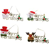 Pack Of 4 Merry Christmas Decorations Wall Door Tree Christmas Hangings