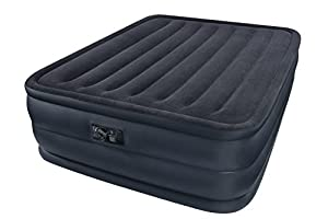 Intex Raised Queen airbed air bed with built in electric pump #66718