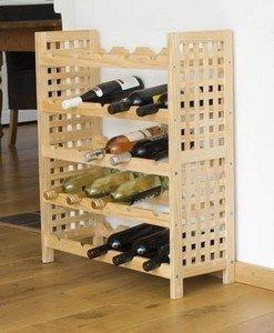 Meuble bois etagere porte bouteilles a vin decoratif pour for Porte bouteille decoratif
